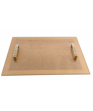 TRAY WITH METAL HANDLE 40X30CM
